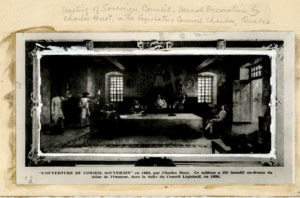 Première séance du conseil souverain 1663-09-18